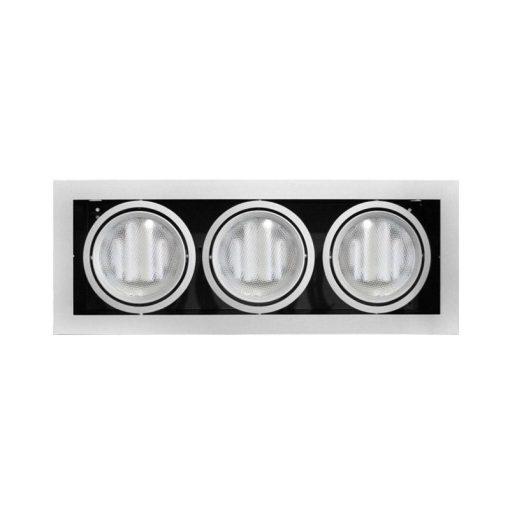 Adeleq Ar111 Sülyesztett Lámpatest Ezüst Max. 3X100W