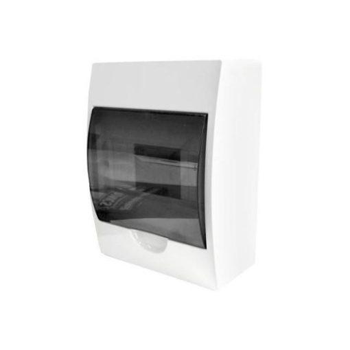 Freder Lakáselosztó - Elosztószekrény Elosztó Doboz 6 Modulos Falon Kívüli füst színű ajtóval, N/PE sínnel
