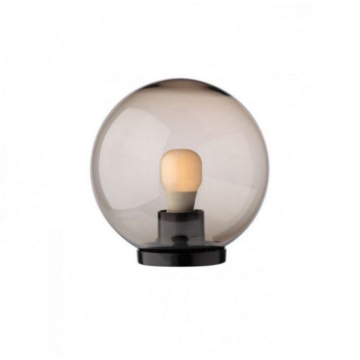 Gömb Alakú Kerti Lámpa Búra Füst (400 Mm) E27