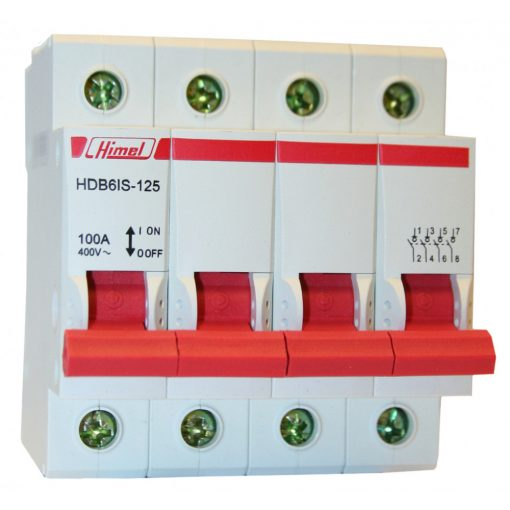 HDB6IS Moduláris kapcsoló 4P 100A