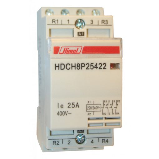 Hdch8P Moduláris Kapcsoló 4P 25A 4No , Installációs kontaktorok