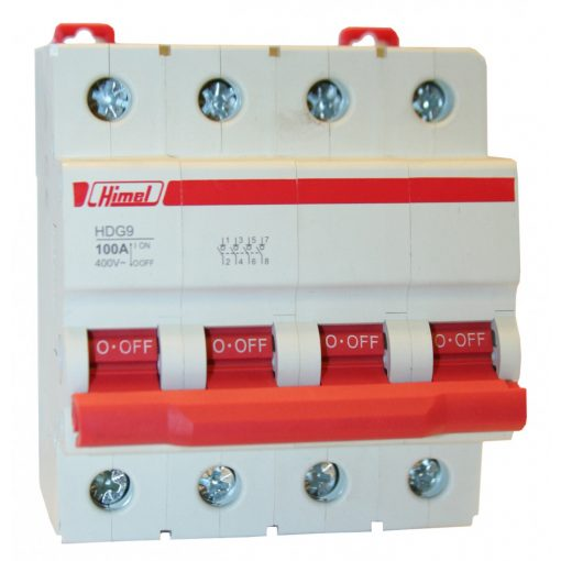HDG9-125 Moduláris kapcsoló 4P 100A