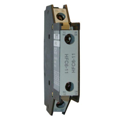 Hfc6-11 Mágneskapcsoló Kiegészítő Oldalsó Segédérintkező 1No 1Nc