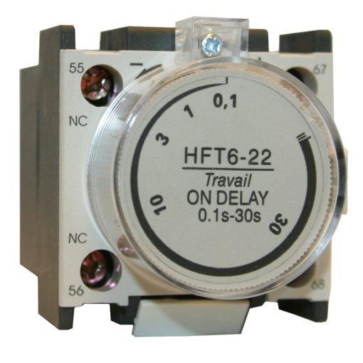 HFT6 Mágneskapcsoló kiegészítő Homlokoldali meghúzáskésleltető 0.1-30S