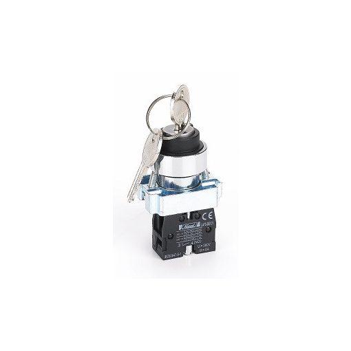 HLAY5-BG25 kulcsos fém 2 pozíciós választókapcsoló 1NO+1NC