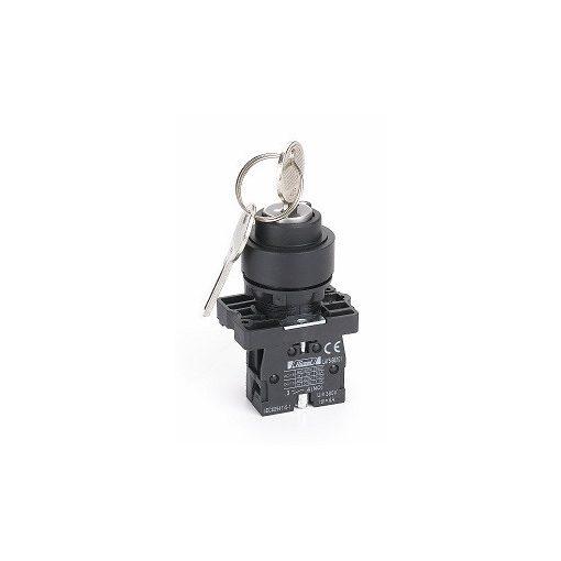 Hlay5-Eg33 Kulcsos Műanyag 3 Pozíciós Választókapcsoló 2No