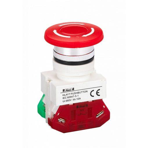 HLAY7-01ZS Piros műanyag φ30 vészgomb 1NC