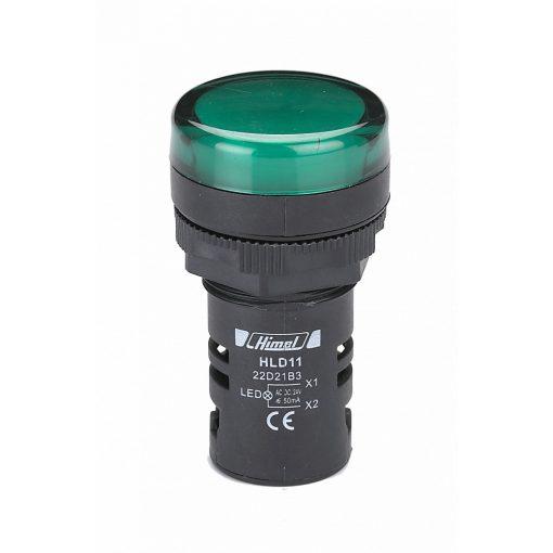 HLD11-22D Zöld Jelzőlámpa AC220V