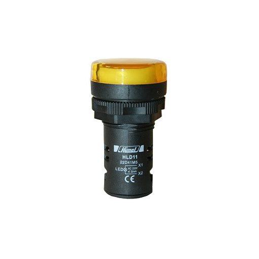HLD11-22D Sárga Jelzőlámpa AC220V