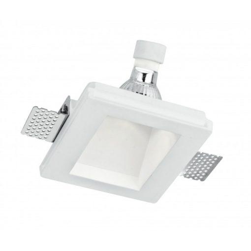 Intec Süllyesztett Gipsz Lámpatest ,Aszimmetrikus , Mr16 Gu10 Fehér