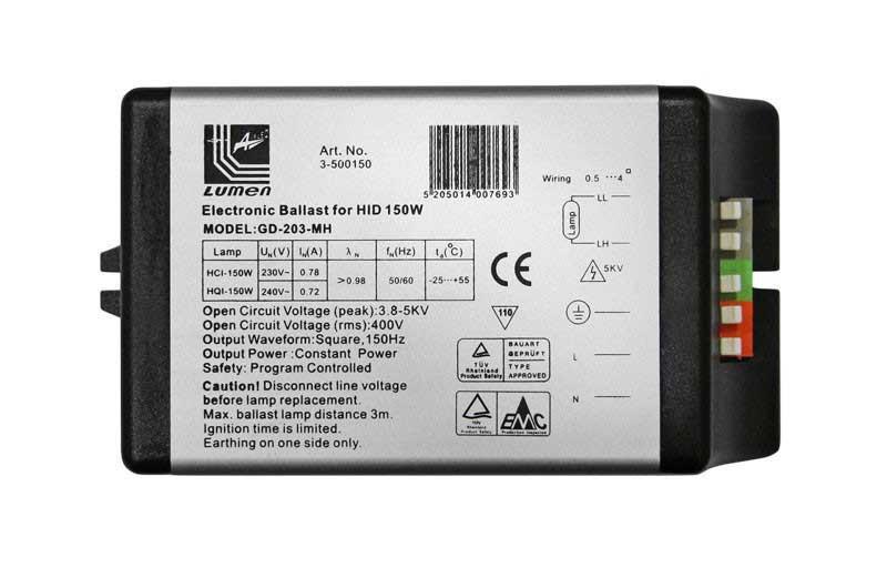 Adeleq Elektronikus Előtét Fémhalogén Fényforráshoz 150W
