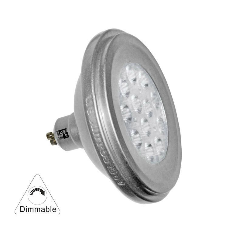 Adeleq Ar111 Gu10 Spot, 12W 860Lm, 36°, Meleg Fehér, 3000K , Dimmelhető , Fényerőszabályozható