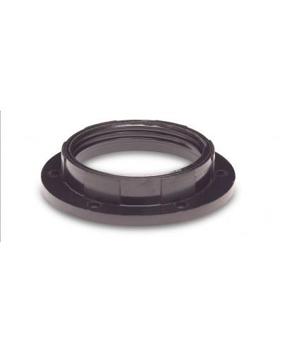 Rögzítő Gyűrű E27 Műanyag Foglalathoz (Fekete)