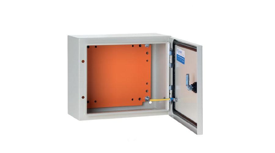 FREDER lemezszekrény 400x300x200mm IP56 szerelőlappal
