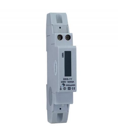 Egyfázisú Digitális Fogyasztásmérő , Sínre Pattintható Dds-1Y