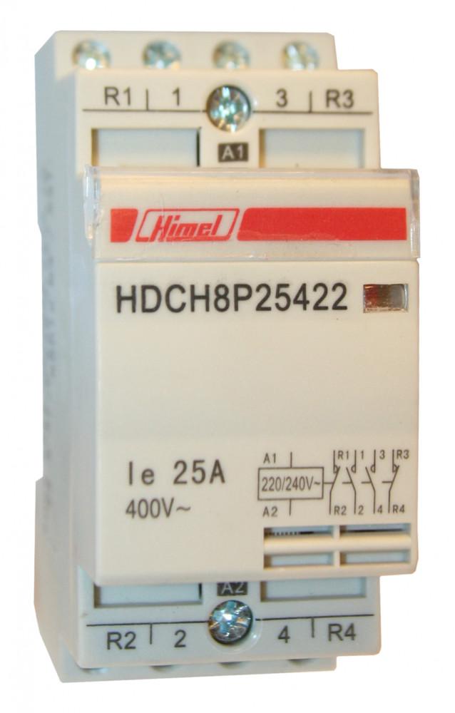 HDCH8P Moduláris kapcsoló 4P 25A 4NO