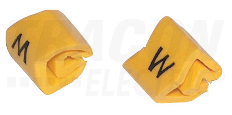 Vezetékjelölő (földelés jel)vezetékre ráhúzható 0,2-1,5mm2