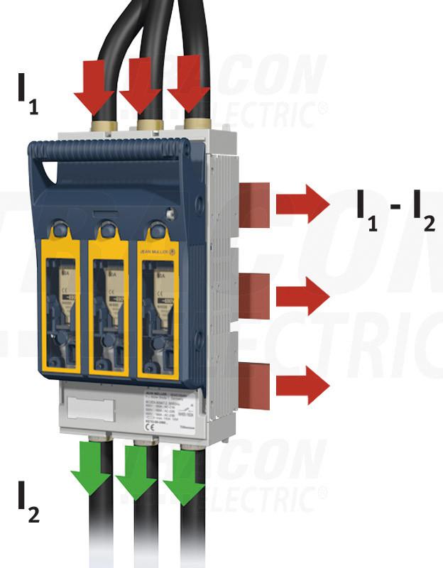 Szakaszolókapcsoló-biztosító, gyűjtősínre, prizma kapocs 690VAC, 440VDC, 630A, 3P, NH3