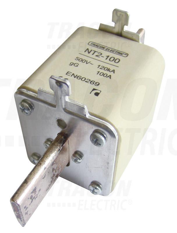 Késes biztosító 500V AC, 125A, 2, 120kA, aM