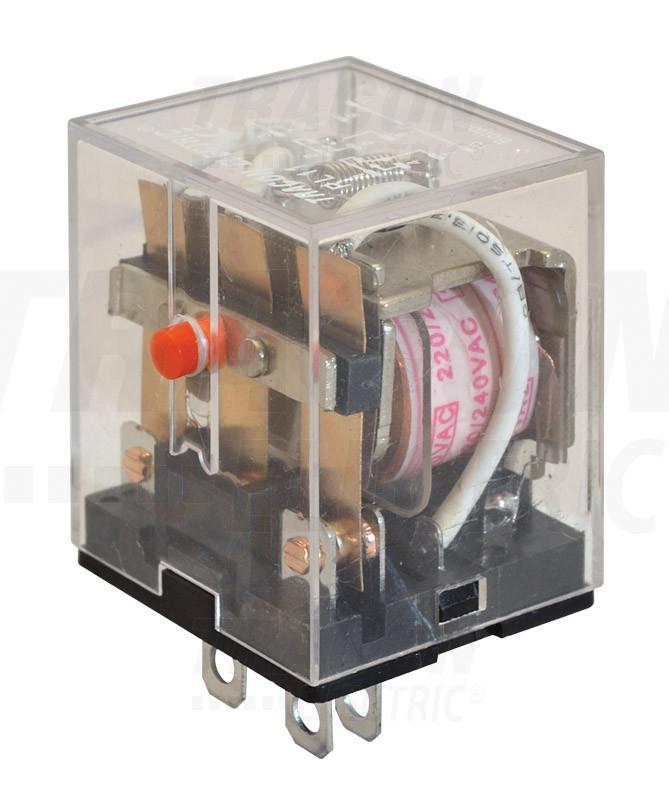 Miniatűr teljesítmény relé 48V AC / 3×CO (10A, 230V AC / 28V DC)